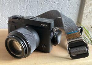 Fujifilm Fuji X-E3 24MP Mirrorless Camera, Fujinon 35mm f2.0, 2 Batteries