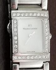 NICE LADIES MAURICE LACROIX MIROS FULL DIAMOND BEZEL MOTHER OF PEARL DIAL 32838