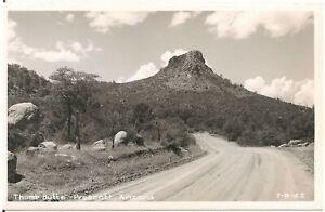 View of Thumb Butte in Prescott AZ RP Postcard