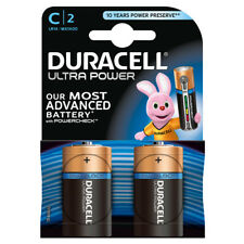 "Nuevo paquete de 2 Duracell Tamaño C Ultra Potencia alkalne Pilas ""MX 1400 B 2 Ultra"""