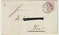 """Brief 1876 Mannheim Mi 32 """"5 PFENNIGE"""" Faltbrief, gute Erhaltung schöner Stempel"""