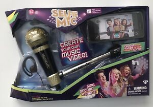 Moose Toys Selfie Mic Set Create Your Own Music Video With The App, Black