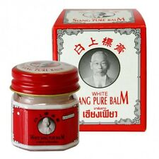 Thai Pure Balm White Siang 1X12g Relief muscle pain Massage Pain Dizziness Relax