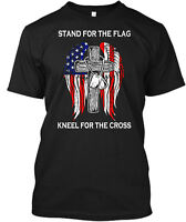Stand For The Flag Kneel Cross Hanes Tagless Tee T-Shirt
