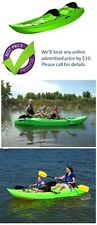 Lifetime 10' Sit-on-Top Kayak 90116 Tandem Kayak - Lime Green + Padded Backrests