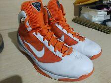 🔥 Nike Mens Size 15.5 Hyperize Flywire Tech Basketball Shoes Orange & White 🔥