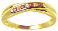 9 Carat Anniversary Ruby Yellow Gold Fine Rings