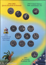 Australia 20 cent Coin Collection 1966-2001 inc the scarce FEDERATION 20c set