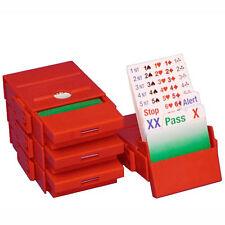 Bridge Partner Bidding Boxes - Red - Set of 4
