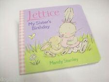 Bambini Lettuce Il Coniglio Sorelle Compleanno Libro Su Cartoncino Presto Primo