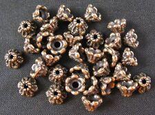 250 Pcs Antiqued copper wire wrap bead caps FC365