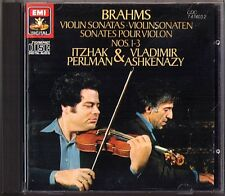 Itzhak PERLMAN & ASHKENAZY: BRAHMS Violinsonaten 1 2 3 CD Violin Sonata Vladimir