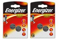 4 Piles Lithium CR2025 3 V  Energizer ( 2 packs de 2 piles )