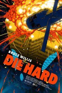 Die Hard screenprint by Florey nt Mondo