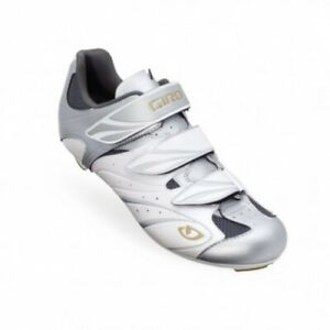Giro Sante White/Silver/Gold Women's Road Cycling Shoes