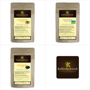 Afrika Kaffee Probierpaket 3x100g ♥ Kaffee Probierset Äthiopien Ruanda Tansania