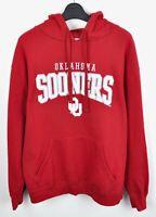 OKLAHOMA SOONERS Majestic L Hoodie Sweatshirt Jumper NCAA vtg Sweater University