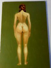 Vintage HAL RUNYON (20th C., Hollywood,CA); FEMALE NUDE, Oil on Board, Unframed
