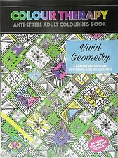 ADULT COLOURING COLOUR THERAPY ANTI STREET 64 PAGE A4 BOOK VIVID GEOMETRY