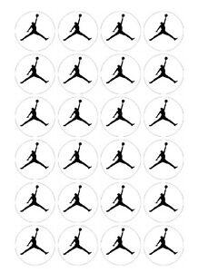 24 x Jordan Logo #2 Edible image cupcake toppers Pre-Cut