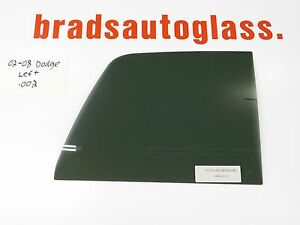 02-08 1500, 03-09 2500,3500 Dodge Ram sliding Rear Window Back Glass LEFT Patch