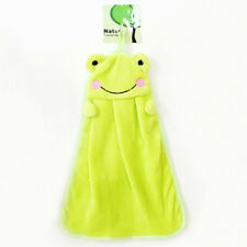 Baby Cute Hand Towel Cartoon Hanging Animal Bath Comforter Snuggle Blanket Soft Frog