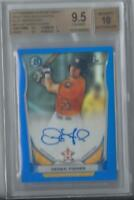 2014 Bowman Chrome Draft Derek Fisher Blue Refractor Auto 55/150 BGS 9.5/10 Gem