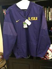 New LSU Tigers Purple Nike Long Sleeve Sideline Lockdown Jacket  Visit Our Store