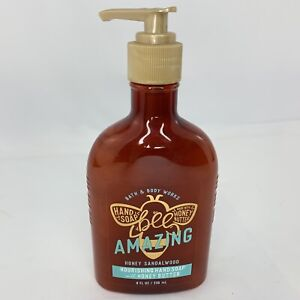 Bath & Body Works Bee Amazing Honey SANDALWOOD Nourishing Hand Soap 8 Oz Pump