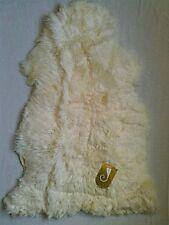 "Bowron Genuine Australian Soft Luxurious Lambskin Rug, Ivory, 43"" x 31.5"""