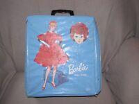 VINTAGE 1960 BARBIE MIDGE DOLL REDHEAD AUBURN BUBBLE CUT 1963 CASE CLOTHES LOT