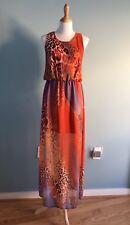 $298 W118 by Walter Baker Printed chiffon maxi dress sz M
