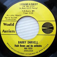 BARRY DARVELL Hash Brown Orch pop 45 vg+ I FOUND A DAISY vg++ KISSABLE LIPS F645
