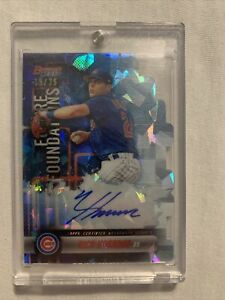 Nico Hoerner Future Foundations Atomic Auto /25 2019 Bowman's Best