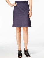 Tommy Hilfiger Faux-Suede A-line Skirt Masters Navy Blue size 6