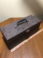 Vintage Kennedy Kits Fishing Tackle Box Tool Storage Steel Box