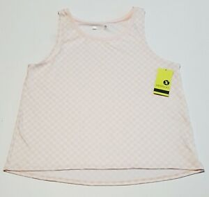 Xersion NWT Womens Pull Over Tank Pearl Blush Loose Fit Athletic Workout Tank XL