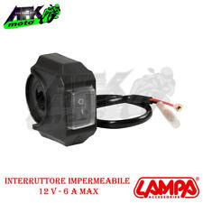 Lampa 12V 6A Interruttore Impermeabile - Nero (90462)