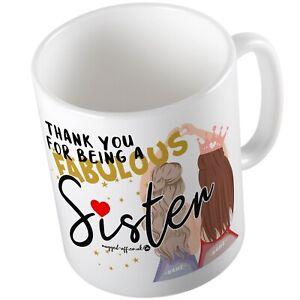 Sister Mug (personalised) Cup Cups Xmas Birthday Christmas Tea Coffee Mugs
