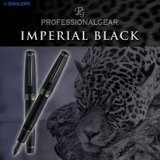 SAILOR PROFESSIONIAL GEAR IMPERIAL BLACK 11-3028-420 MEDIUM-M 21K GOLD NIB SIZE