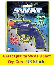 8 Shot Cap Pistol Gun Caps Rings Plastic Toy Kids Child Outdoor Revolver SWAT UK