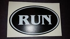 RUN running track cross country XC Vinyl car truck van window decal sticker
