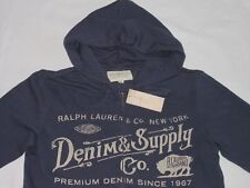 NUOVO * RALPH LAUREN DENIM supply Pullover Giacca Hoodie Cappuccio * * VINTAGE * Gr: M * NEW