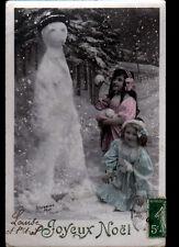 JEU D'ENFANT / BONHOMME de NEIGE pour JOYEUX NOEL en 1908