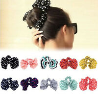 5pcs Women Ponytail Holder Bow Knot Elastic Hair Band Hair Rope Scrunchie Tie