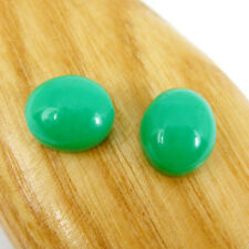 8.50 carats Pair Oval 10x9mm Opaque Australian Chrysoprase Gemstone Qty 2 Pieces
