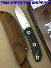 BENCHMADE 15400 MEL PARDUE HUNTER FIXED BLADE HUNTING KNIFE S30V LEATHER SHEATH