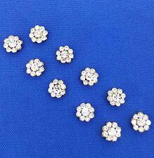 Antico in Metallo Bottoni Dorati Strass Bling FASHION Bottoni da Cucire Craft 10 PZ