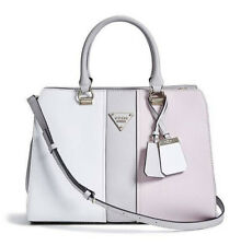 NEW GUESS WHITE COOPER COLOR BLOCKED CARYALL BAG HANDBAG PURSE