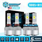 9005+H11 LED Headlight High Low Beam Bulbs Kit Super Bright 6000K 660000LM Lamps